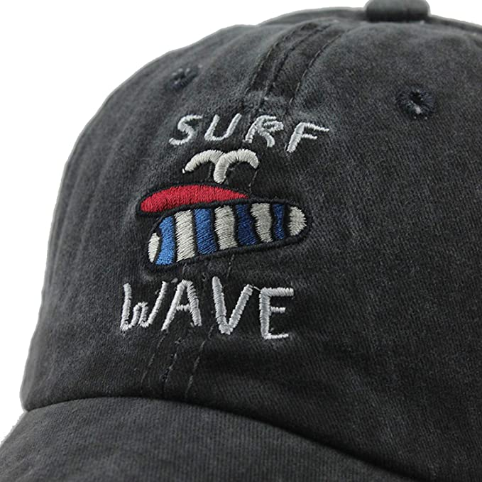 100% Cotton Washed Casquette Baseball caps Men surf Wave Hats Embroidery Dad Hat for Women Gorras Planas F306 at Amazon Mens Clothing store: