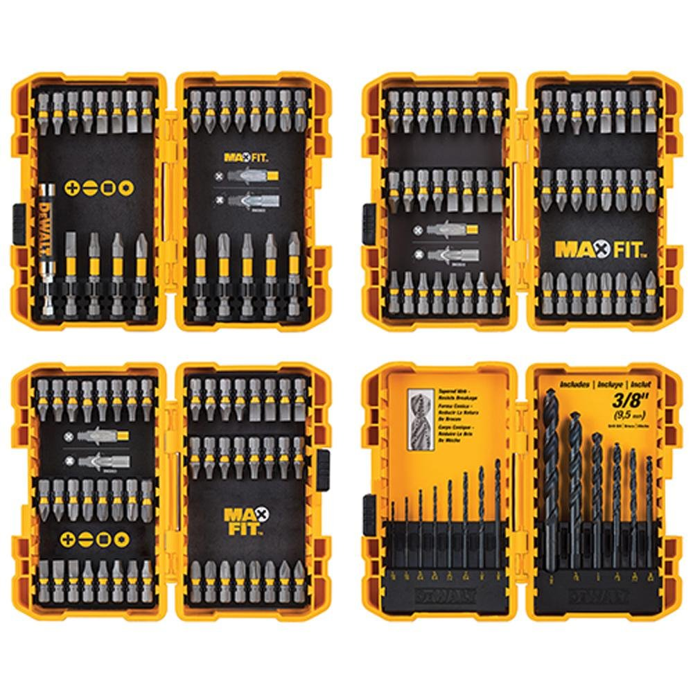 DEWALT DWA2SLS136 Maxfit Screwdriving and Drill Bit Set 136-Piece