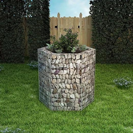 tiauant Casa y jardín Jardín Jardinería Macetas y tiestos Jardinera Hexagonal de gaviones 100x90x100 cm maceteros Exterior jardinDiametro del Alambre: 4 mm: Amazon.es: Jardín