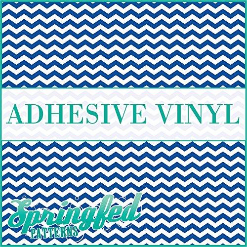 CHEVRON STRIPES PATTERN #1 Royal Blue & White Craft Vinyl 3 sheets 6x6 Chevron for Vinyl Cutters