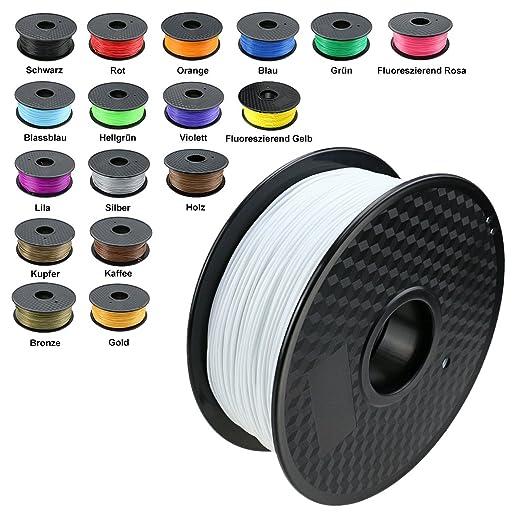 150 opinioni per TIANSE Bianco Filamento PLA per stampanti 3D /penne 3D, 1,75 mm, precisione