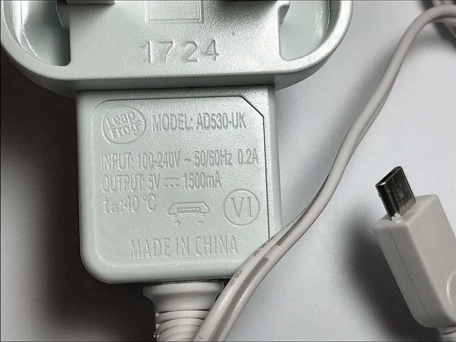 UK White 5.0V 1500mA AC-DC Adaptor Power Supply Charger MICRO USB WHITE NEW