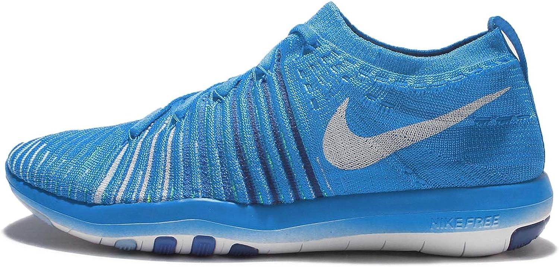 Nike Women's WMNS Free Transform Flyknit, Blue Glow/White-DEEP Royal Blue-Racer Blue Blue Glow White 401