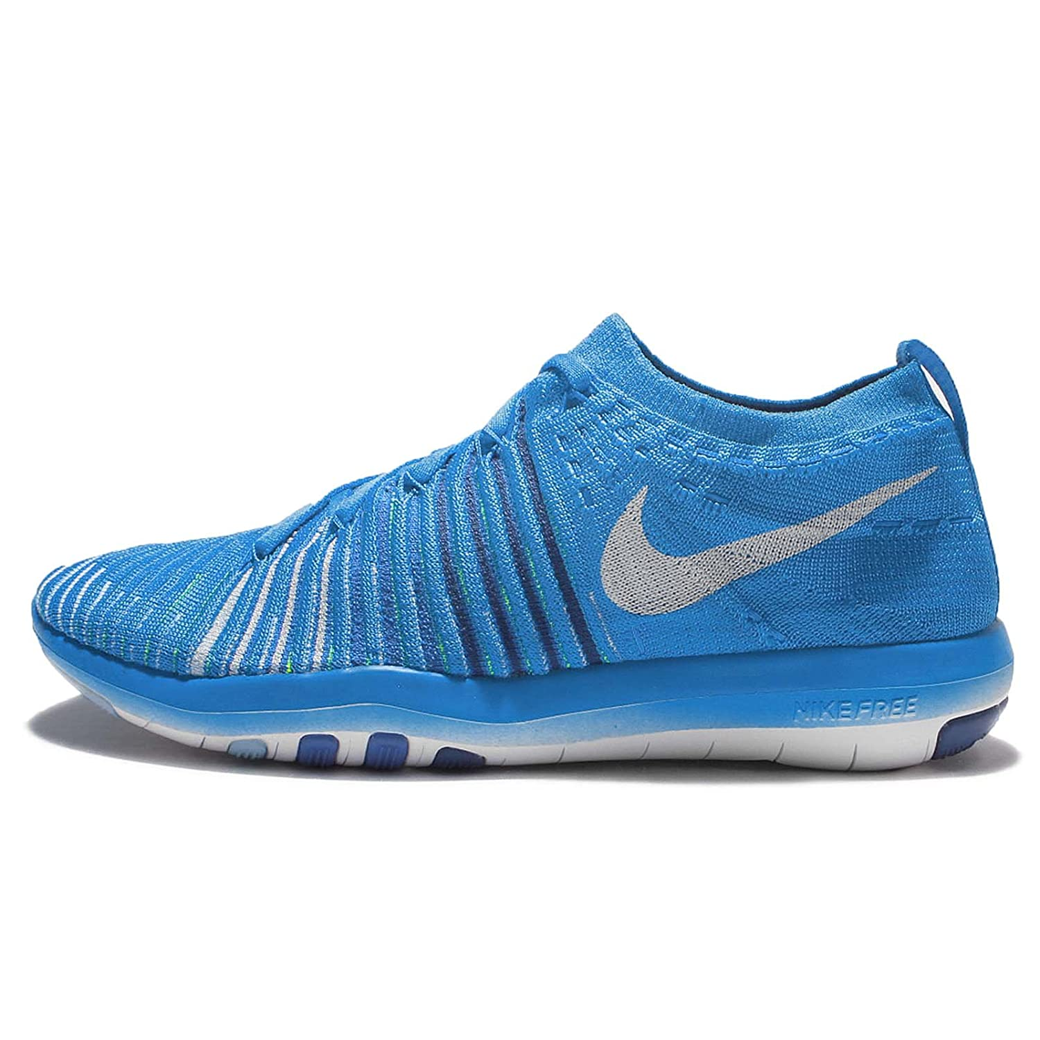 NIKE Womens Free Focus Flyknit Mesh Breathable Trainers B01I0SE71G 9.5 B(M) US|Blue Glow/White/Deep Royal Blue