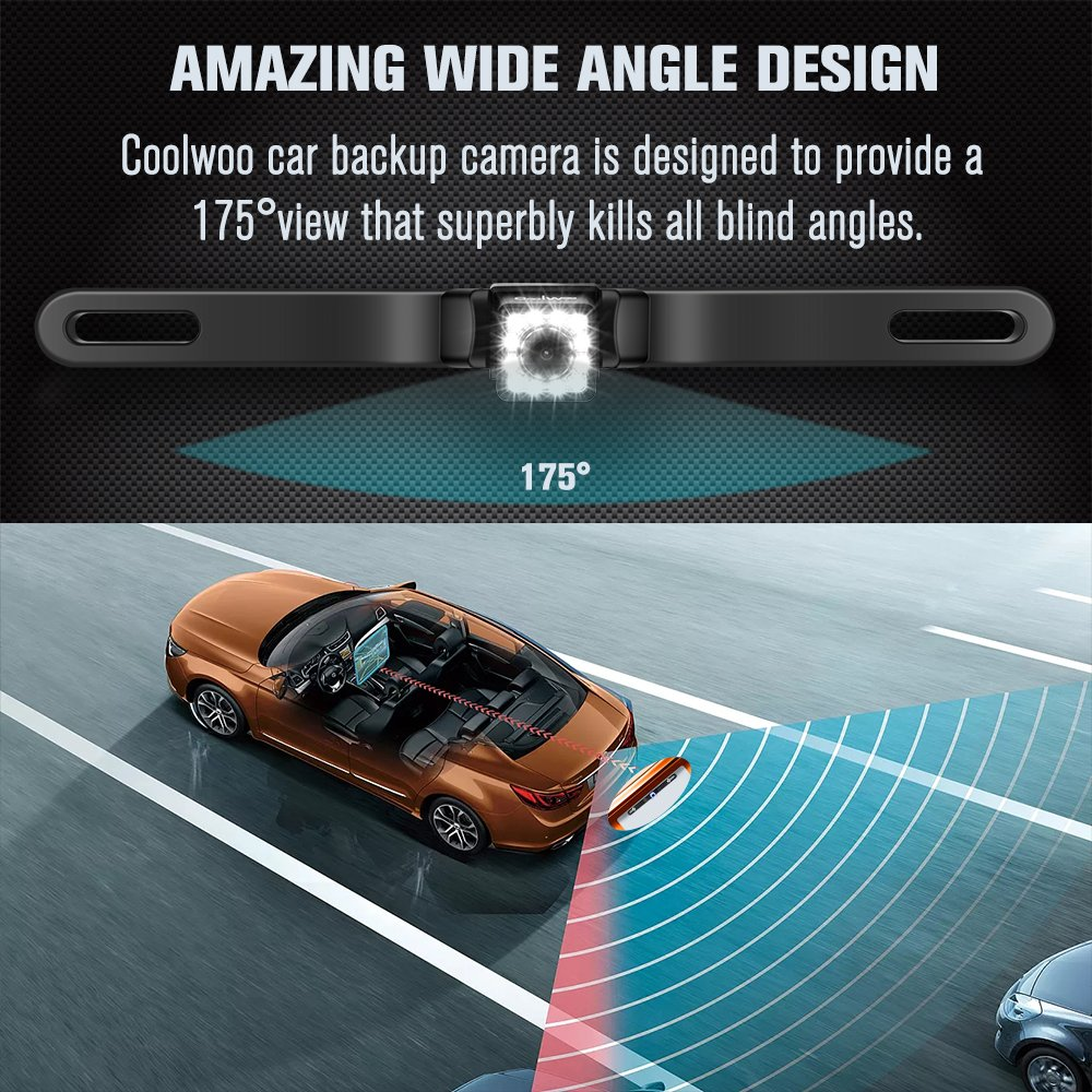 Car Backup Camera 175 Wide Angle Hd Easy Installation The 2013 Hyundai Rear View Wiring Diagram 12 Led Night Vision Waterproof Back Up From Coolwoo Fit All Cars Cell