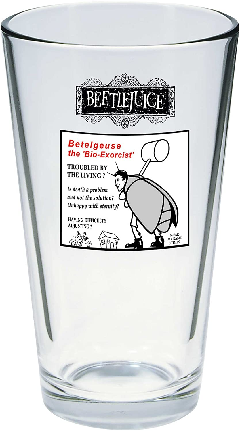 Beetlejuice Pint Glass Diamond Select New in Box