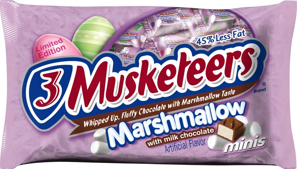Amazon.com : 3 MUSKETEERS Easter Marshmallow Milk Chocolate Minis Size Candy Bars 9-Ounce Bag (Pack of 4) : Candy And Chocolate Snack Size Bars : Grocery ...