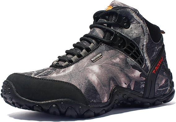 Gomnear de los Hombres Botas de montaña Trekking Zapatos Al Aire Libre Deporte Antideslizante Respirable para Caminar Alpinismo Zapatillas