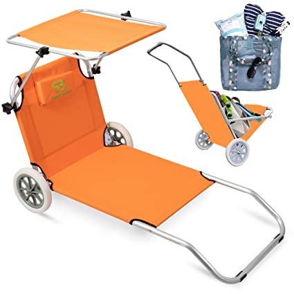 Amazon.com: Simpli Better - Sillas de playa plegables con ...