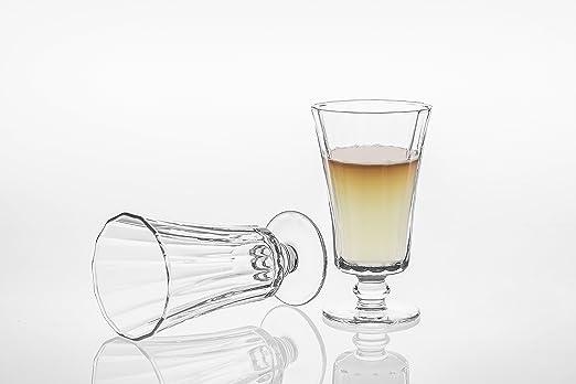 Vaso/vasos de agua conjunto de 6, Stemware resistente elegante cristal, transparente: Amazon.es: Hogar