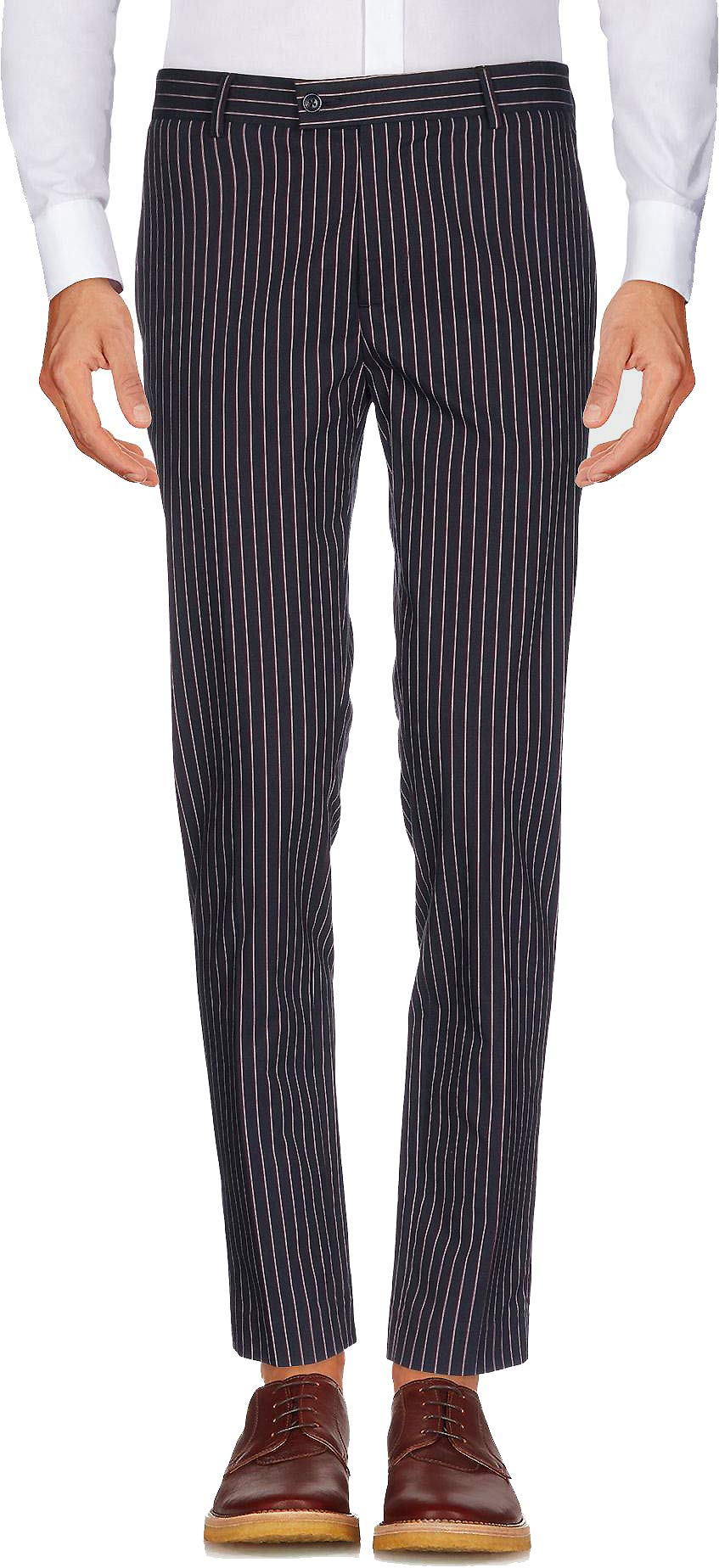 auguswu Men's Flat Front Slim Fit Wool Chambray Pinstripe Suit Separate Pant 32W¡Á32L Black by auguswu