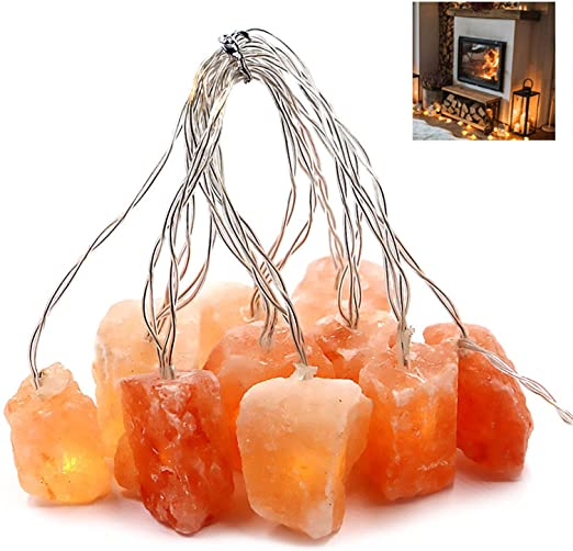 Himalayan Salt Light String for Bedroom with 20 Rock,11.5ft USB ...