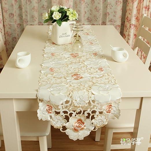 Bandera de la tabla de rose manor camino de mesa bordado mesa de ...