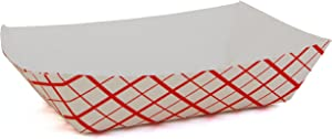 Southern Champion Tray 0401 #25 Southland Paperboard Red Check Food Tray, 1/4 lb Capacity, 250 Count (Pack of 4)