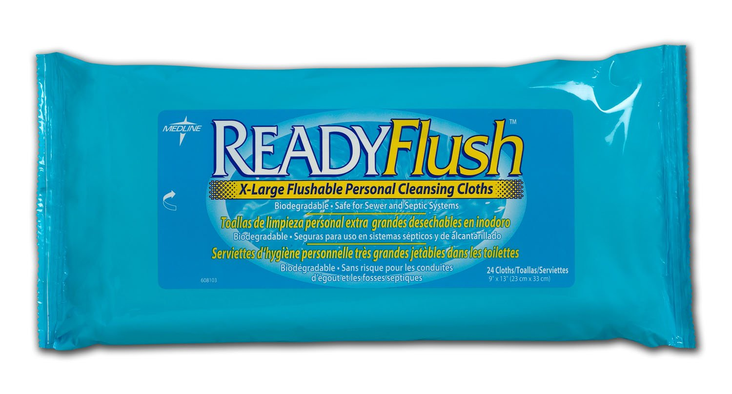 Amazon.com: Readyflush Scented Wipes 9inchx13inch 24/pk: Health & Personal Care
