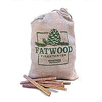 Better Wood Products Fatwood Firestarter Burlap Bag, 8-Pounds