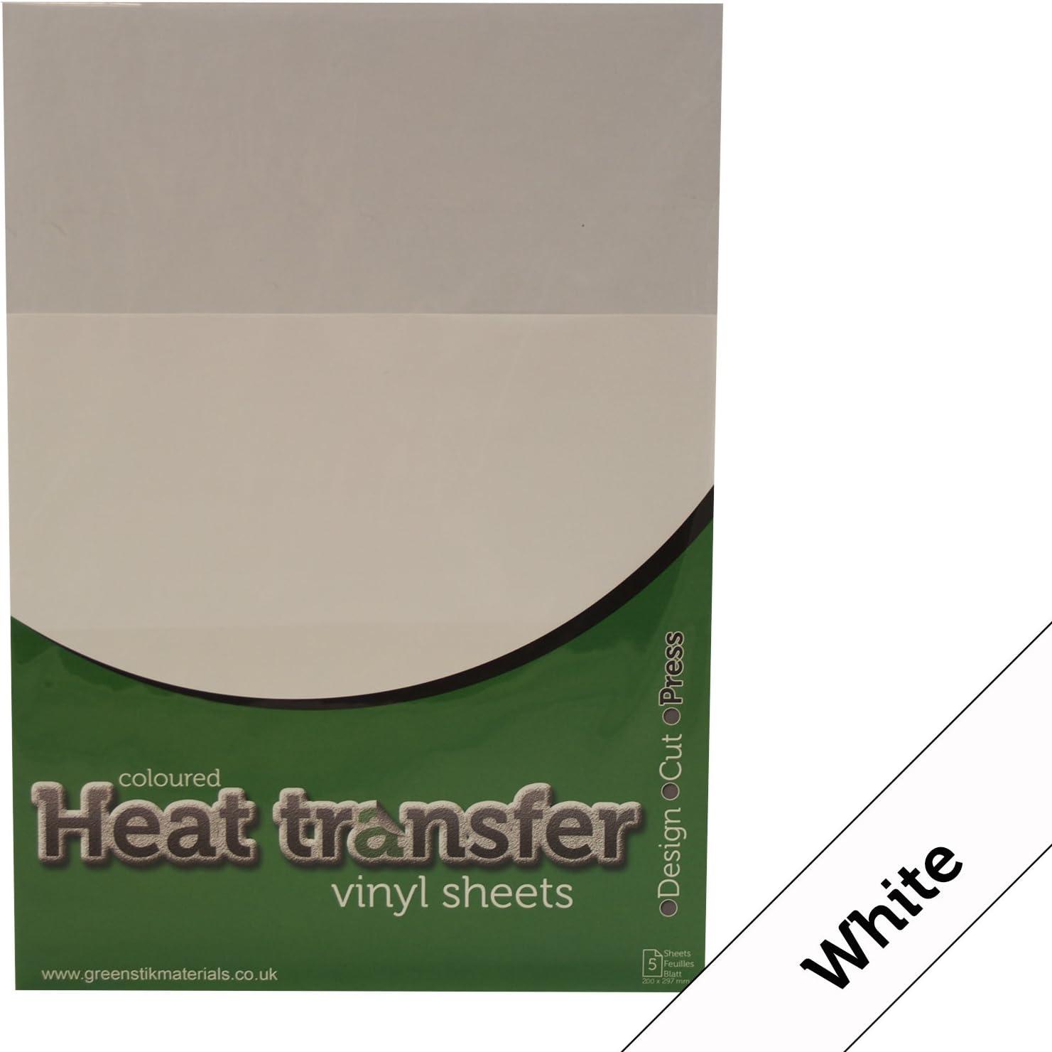 5 x blanco (401) Poliflex Premium transferencia de calor camiseta ...