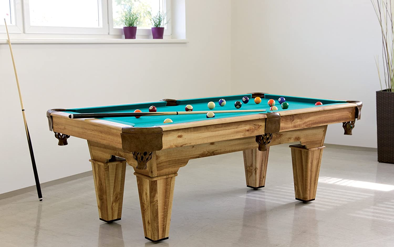Billardtisch Deluxe Pool Billard Tisch aus Holz mit Zubehör 213 x 119 cm