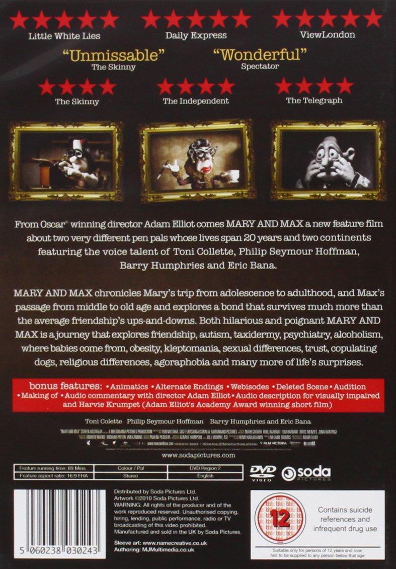 Amazon Com Mary Max Cine Y Tv