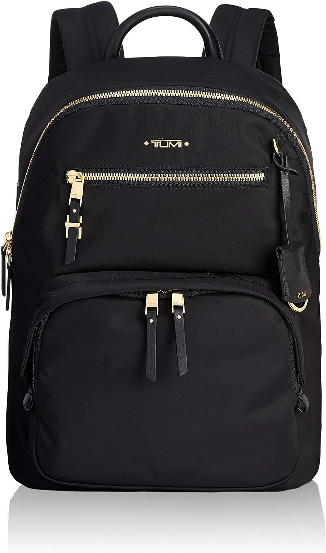 TUMI - Voyageur Hagen Leather Laptop Backpack - 12 Inch Computer Bag For Women - Black