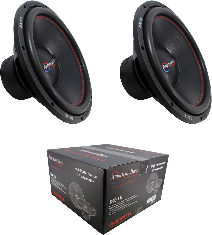 2 x 15 Subwoofer 2000W Single 4 Ohm Bass Pro Car Audio American Bass DX-15