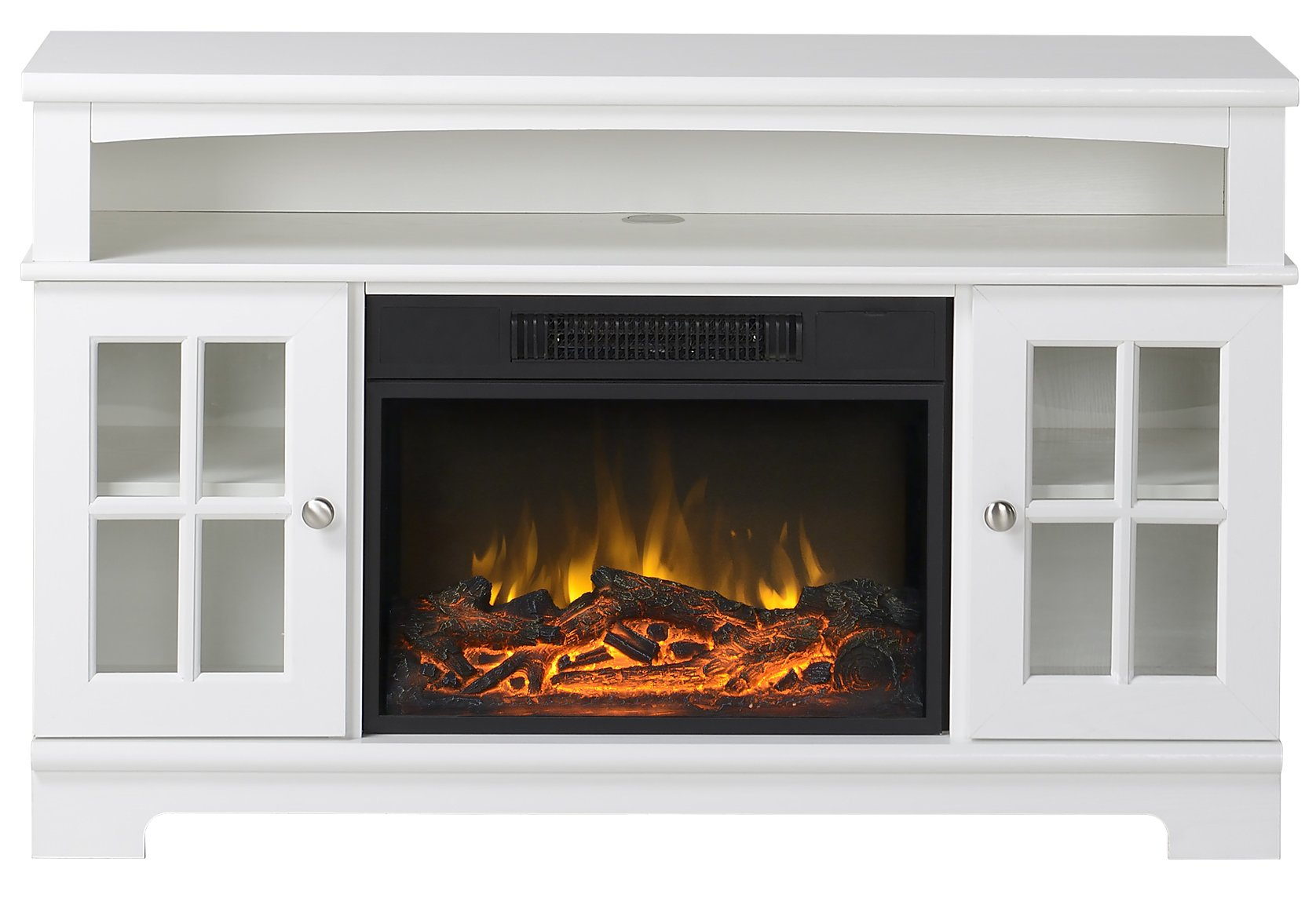 Homestar Zarate 44.5'' Wide Media Fireplace in White by Home Star