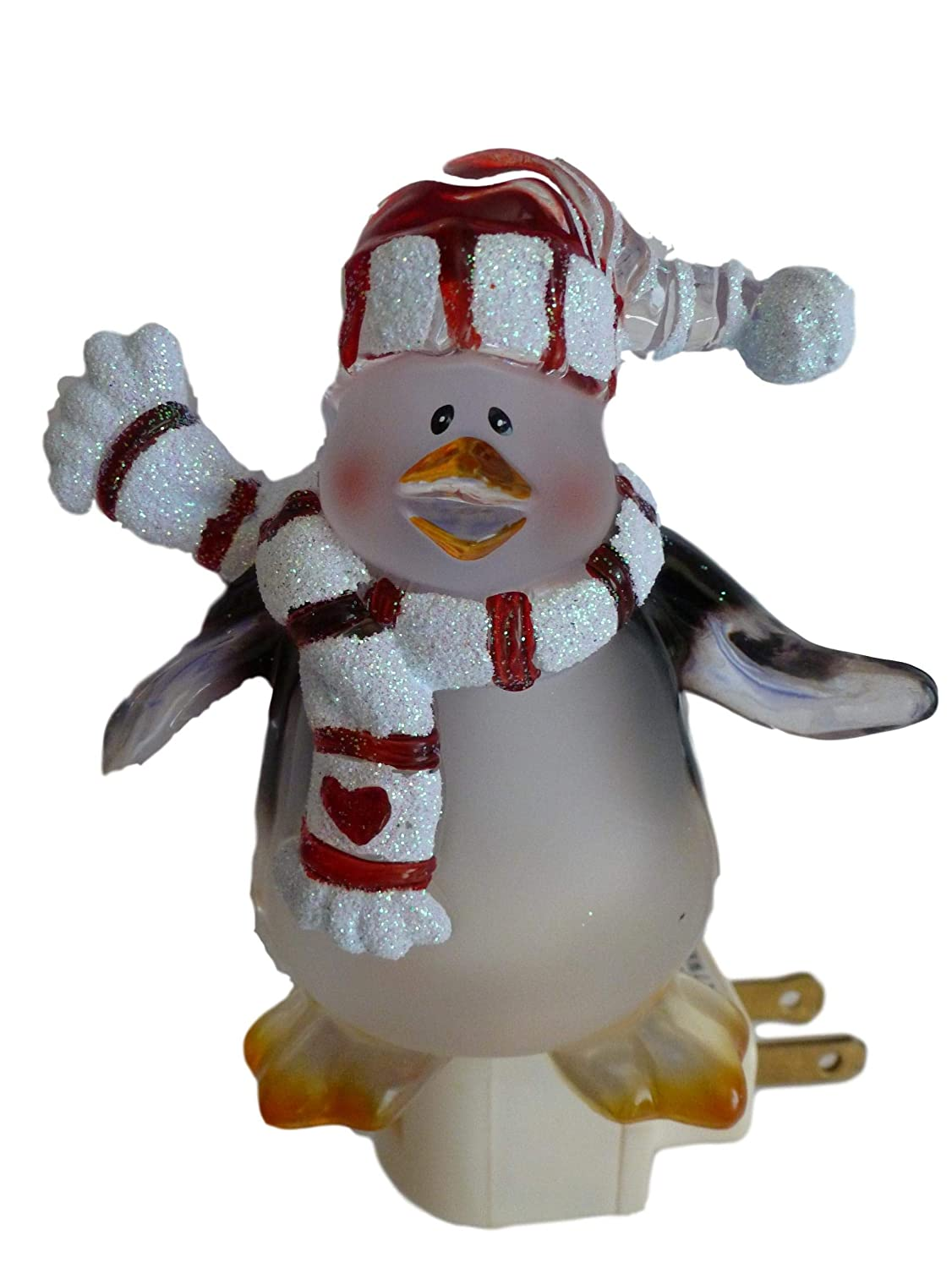 Frosted Penguin Christmas Nightlight with Extra Bulb