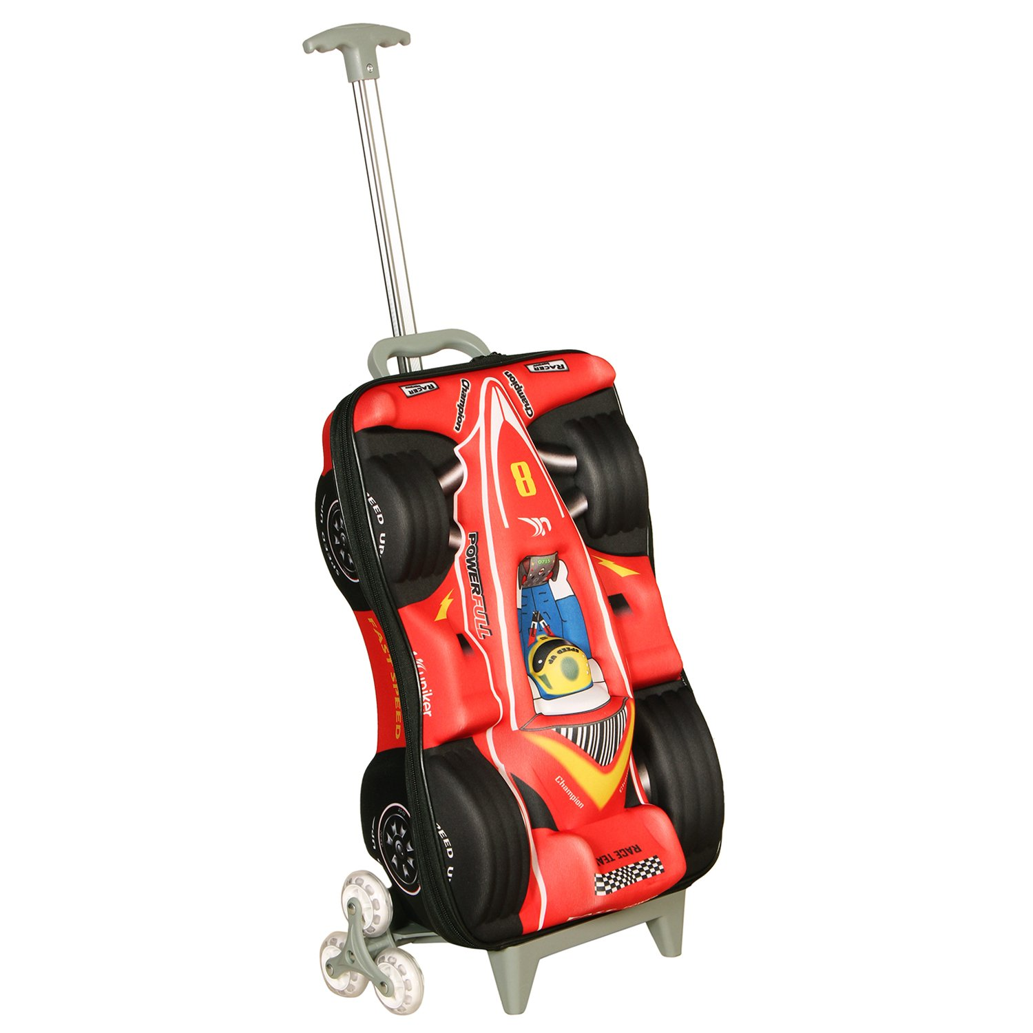 T Bags For Kids 3D Racing Car Red Childers Trolley Bag Amazonin Wallets Luggage