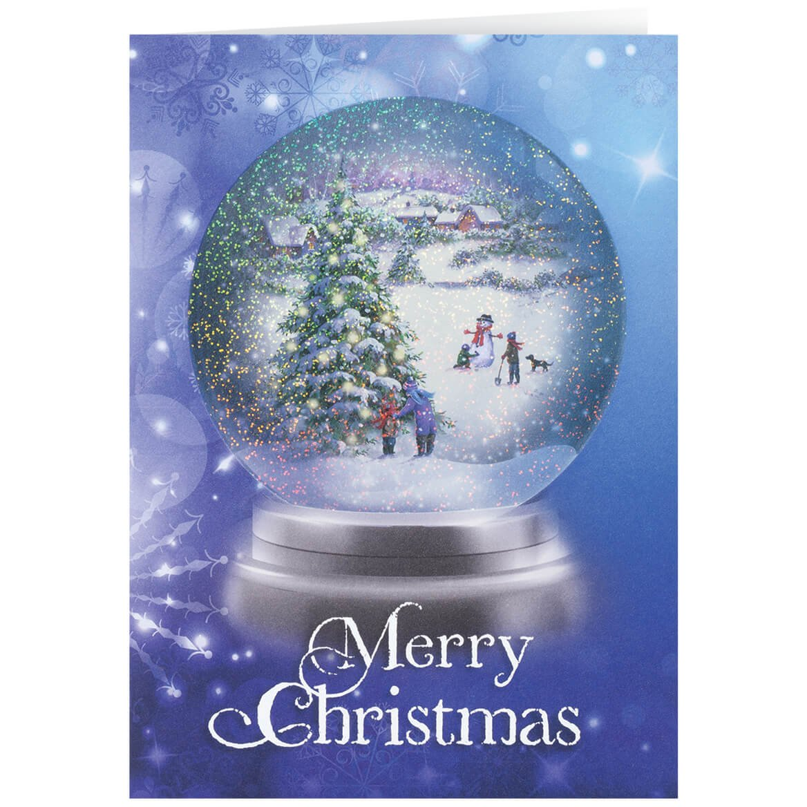 Amazon.com: Personalized Winter Snowglobe Christmas Card Set of 20 ...