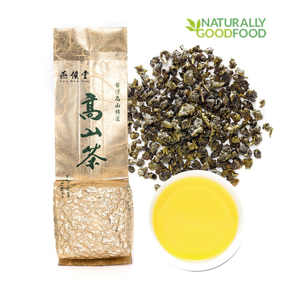 Yan Hou Tang - Organic Taiwan Jin Xuan Milk Oolong Tea Loose Leaf Green Food Flavor Taste Formosa High Mountain Wulong Grown Caffeine Medium for Detox Weight Loss US FDA SGS Verified 150g