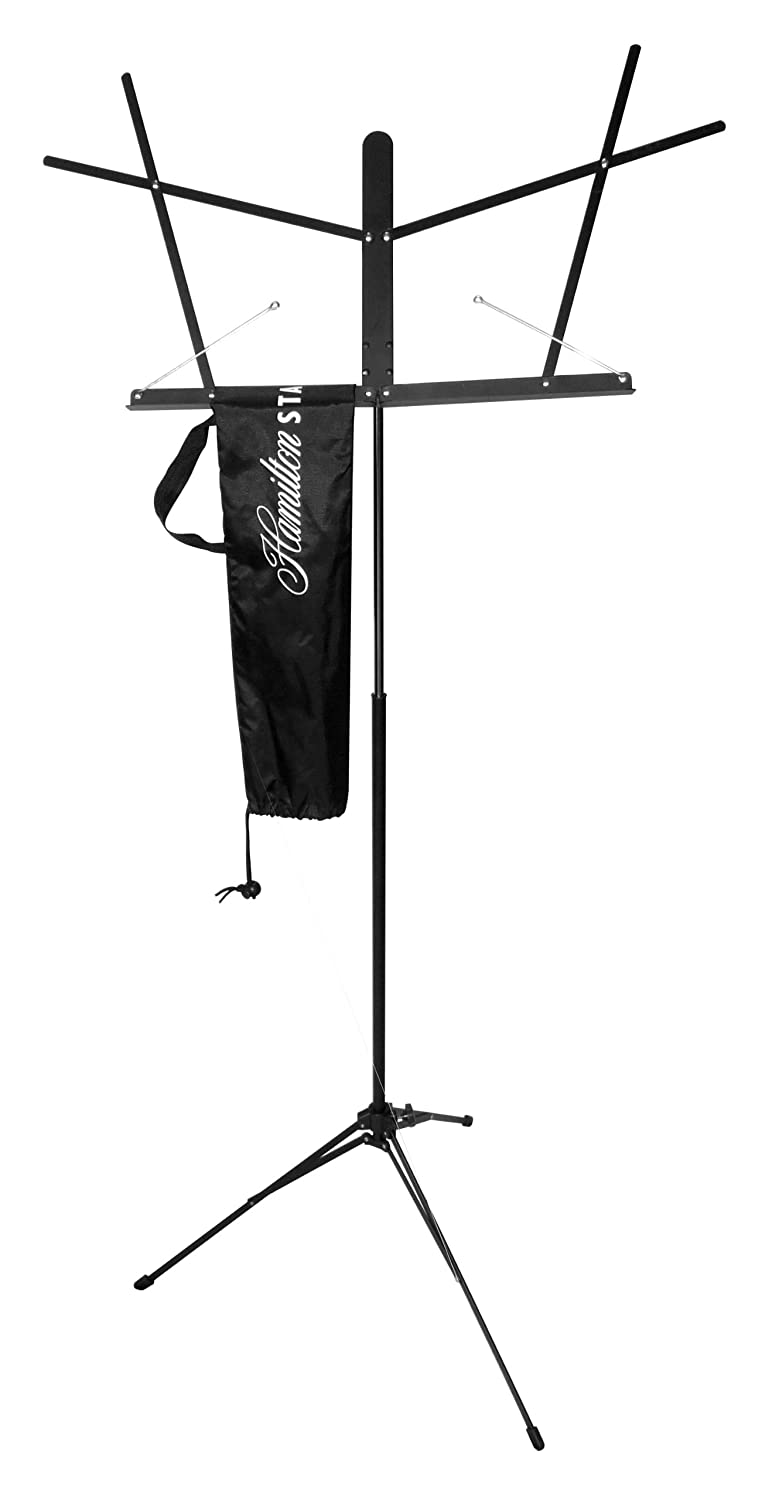 Hamilton Advanced KB200CB Automatic Clutch Folding Music Stand with Carrying Bag Hal Leonard Corporation