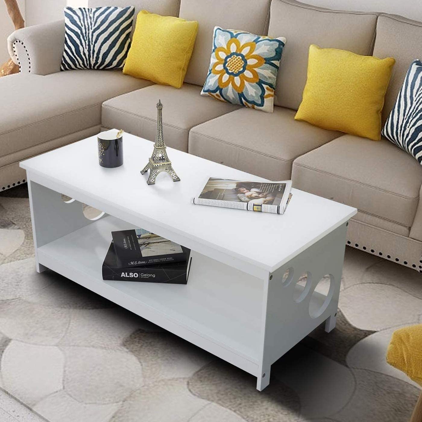 TAOHFE Coffee Table Wihte Review