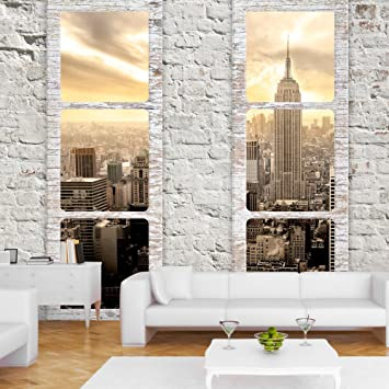 Fototapete Fenster murando fototapete fenster nach york 350x256 cm vlies tapete