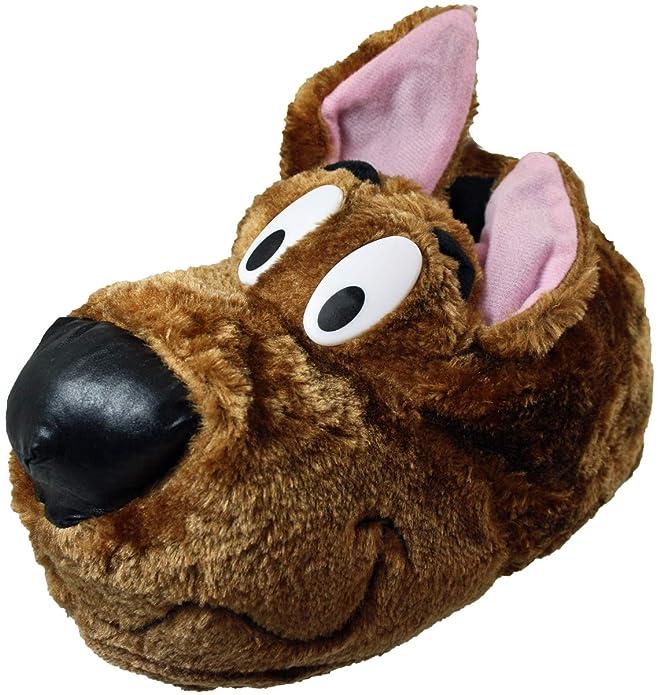 Chausson pantoufle fantaisie Scooby Dog pour hommes - Marron, Synthétique, 44-45
