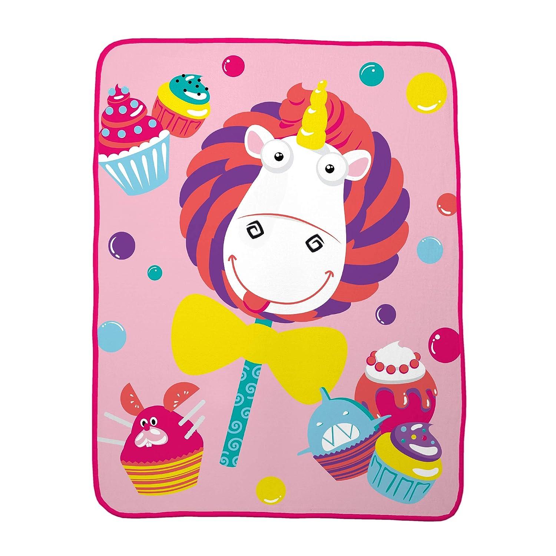 "Franco Kids Bedding Super Soft Plush Throw, 46"" x 60"", Fluffy Unicorn"