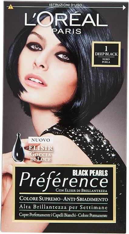PREFERENCE 1nero perla - Tintes para el cabello: Amazon.es ...