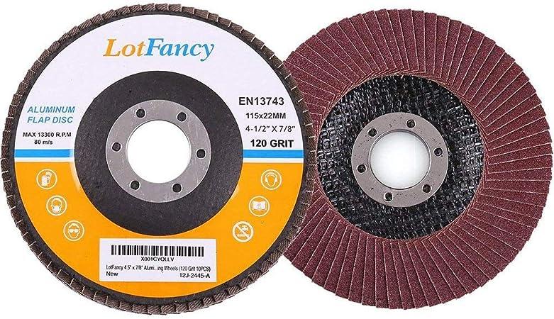 "20 PK 4-1//2/"" X 7//8/"" Premium Zirconia Flap Disc Grinding Wheel Sand Paper 100 Gr"