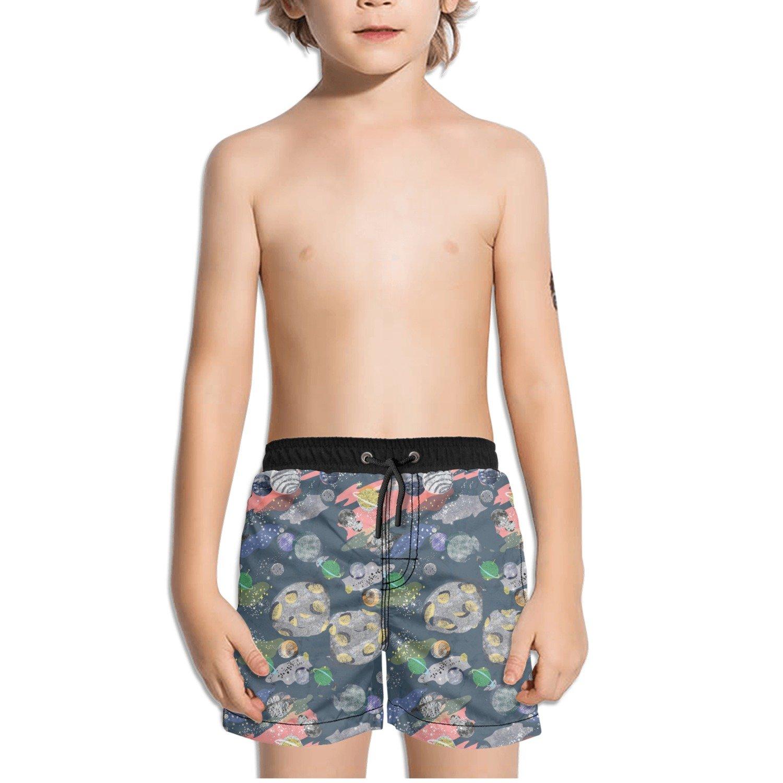 Ouxioaz Boys Swim Trunk Solar System Planets Beach Board Shorts