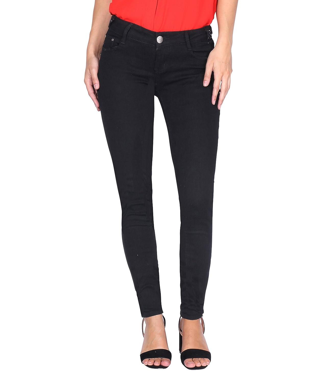 KRISP Women Denim Cotton Jeans Casual Stretch Skinny Winter Pants
