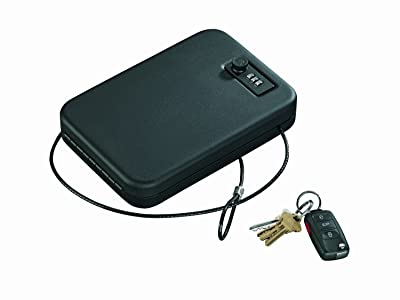 Stack-On PC-95C Portable Case with Combination Lock, Black