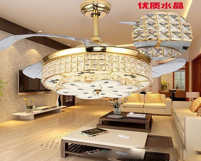 Sdkky led ventilatore invisibile lampada moderno soggiorno sala