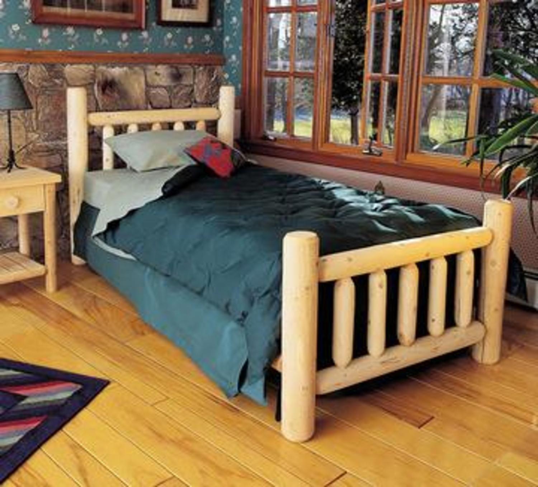 208.28 cm Zeder Log-Stil, handgefertigt, Holz, King-Size-Bett ...