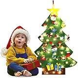 Bageek Feltro Albero Natale, 3.28ft della Feltolta di DIY con 100 LED Catene Luminose 30 Ornamenti Staccabili Regali di Natale di Nuovo Anno per la Decorazione della Parete del Portello dei Bambini