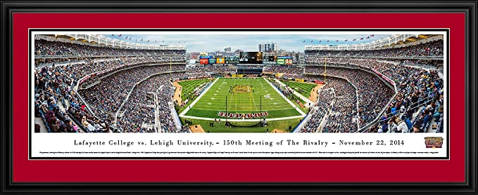 Lafayette Vs Lehigh 150th Anniversary Blakeway Panoramas College Sports Posters With Lafayette Deluxe Frame Sports Outdoors Amazon Com
