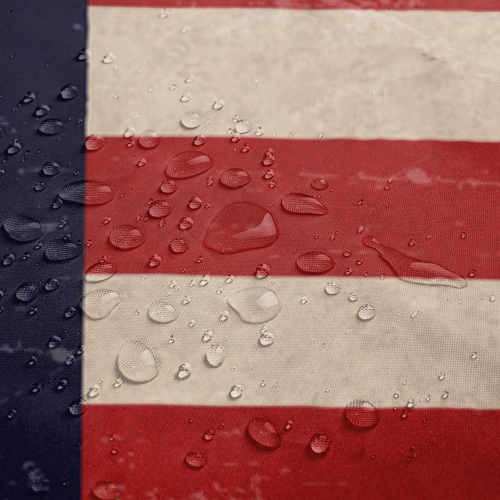 Bianco LAOAYI 150 x 200 cm Tenda per Doccia 200x200 cm Impermeabile Motivo Bandiera America Poliestere con Anelli Inclusi