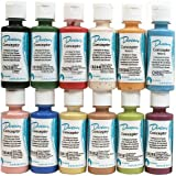 Duncan CNKIT-1 Concepts Underglaze Paint Set, 12 Popular Colors in 2 Ounce Bottles with How To Paint Ceramics Book