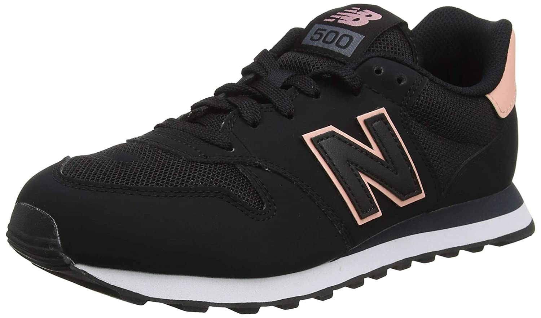 negro (negro blanco Peach Orca Sbp) New Balance 500, Hauszapatos de Deporte para mujer