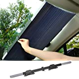 Retractable Car Windshield, lesgos Visor Sun Shade Auto Front Rear Side Window Blinds Sun Shades Anti UV Sunshades for Full Size Car SUV Truck