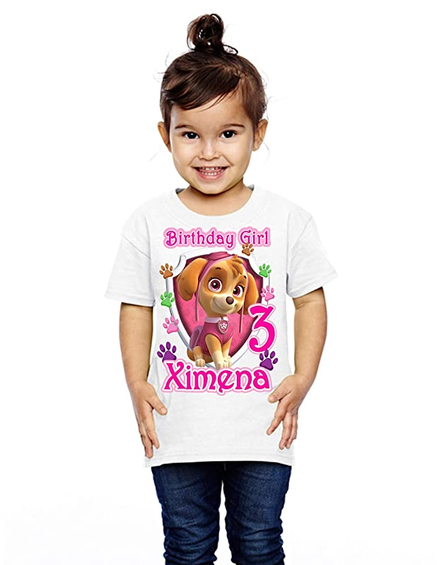 Paw Patrol Dress +NAME+ 7th Seventh 7 birthday Shirt  Personalized  2 Pc Tutu outfit RED Paw Patrol birthday party t-shirt Fast shipping