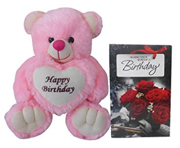 Saugat TradersTM Birthday Gift Combo Happy Soft Teddy Bear Wishes Greeting